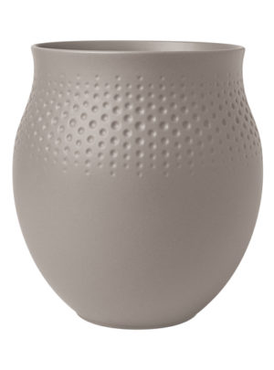 Collier Taupe Vase Perle 18cm