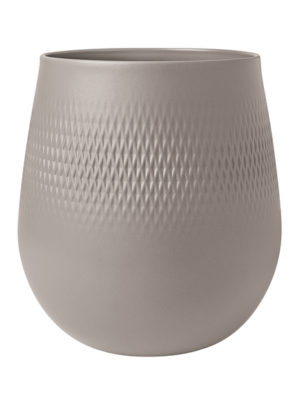Collier Taupe Vase Carre 23cm