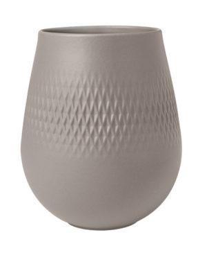 Collier Taupe Vase Carre 15cm