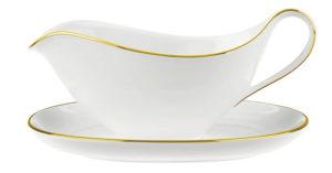 Anmut Gold Sauceboat & Saucer 440ml