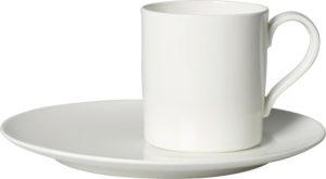 Metro Chic Blanc Coffee Cup & Saucer 210ml