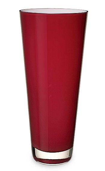 Verso Vase Large Deep Cherry