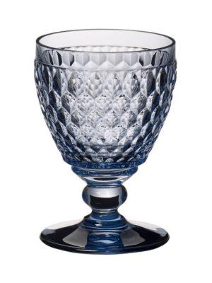 Boston Coloured White Wine Goblet Blue